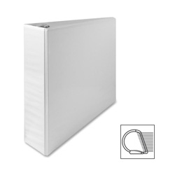 "Sparco Slant 2"" View Binder, White"