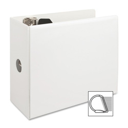 "Sparco Slant 5"" View Binder, White"