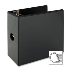 "Sparco Slant 5"" View Binder, Black"