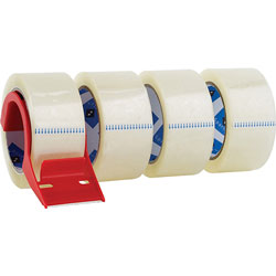 "Sparco Heavy Duty Packaging Tape w/Dispenser, 3""core, 2""x55 yards, Clear"
