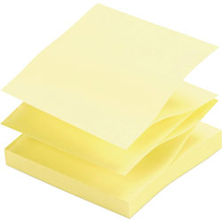 "Sparco Adhesive Notes, Pop up, Plain, 3""x3"", Yellow"