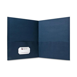 Sparco Die Cut Portfolio, Blue, Box of 25