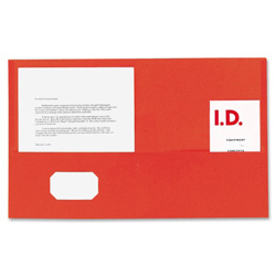 Sparco Die Cut Portfolio, Red, Box of 25