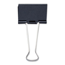 "Sparco Small Binder Clip, 3/4""Wide, 3/8"" Capacity, Black/Silver"
