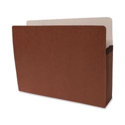 "Sparco Accordion File Pocket, Letter Size, 5-1/4"" Expansion, Redrope"