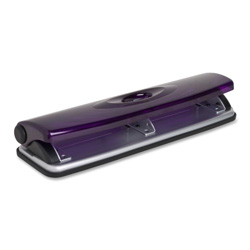 "Sparco Three Hole Punch, 1/4"", 8 Sts Cap., Translucent Magenta"