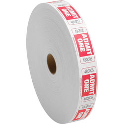 Sparco Roll Tickets, Admit One, 2000 Tickets Per Roll, Red