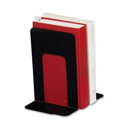 "Sparco book supports with poly base, 6""x8 1/2""x9"", black"