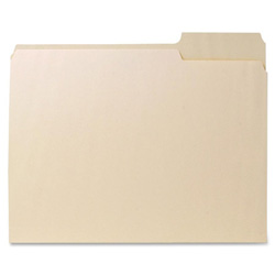 Sparco File Folder, Letter, 1 Ply, 11Pt.,1/3 Cut Right Tab, Manila