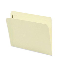 Sparco Fastener Folder with 2-Ply Tab, 1 Fastener, Straight Tab, Letter, 50/Box, MA