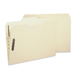 Sparco Fastener Folder with 2-Ply Tab, 2 Fastener, 1/3 Tab, Letter, 50/Box, MA