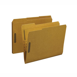 Sparco Fastener folders with 2-Ply Tab, 2 Fasteners, Positions 1 and 3, Letter size, 50/Box