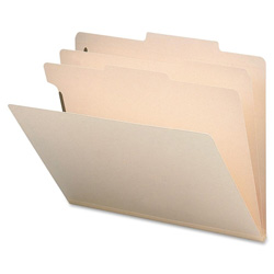 Sparco Classification Folder, 2 Dividers, Letter, 10/Box, Manila