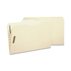 Sparco Fastener Folder with 2-Ply Tab, 2 Fasteners, 1/3 Tab, Legal, 50/Box, MA