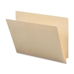 Sparco End Tab Folders, 1-Ply, Straight Tab, Letter size, 100/Box, Manila