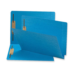 Sparco Blue Fastener Folder, w/ 2-Ply Tab, 2 Fasteners, Letter, 50/BX