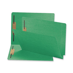 Sparco Fastener Folder, w/ 2-Ply Tab, 2 Fasteners, Letter, 50/BX, Green