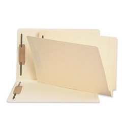Sparco Fastener Folder, w/ 2-Ply Tab, 11pt, Pos 1 and 3, Legal, 50/BX, MA