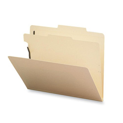 Sparco Classification Folder, 1 Divider, Letter, 10/Box, Manila