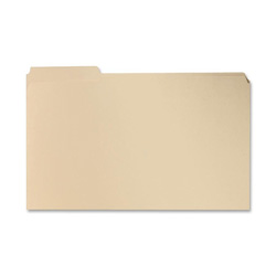 Sparco File Folder, 1/3 Cut Assorted Tab, 2 Ply, Legal, Manila