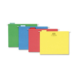 Sparco Hanging Folder, 1/5 Tab Cut, Letter Size, Assorted