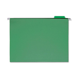 Sparco Hanging Folder, 1/5 Tab Cut, Letter Size, Bright Green