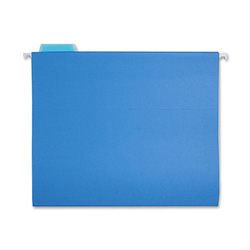 Sparco Hanging Folder, 1/5 Tab Cut, Letter Size, Blue