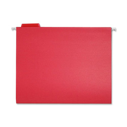 Sparco Hanging Folder, 1/5 Tab Cut, Letter Size, Red