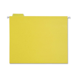 Sparco Hanging Folder, 1/5 Tab Cut, Letter Size, Yellow
