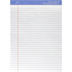 "Sparco Perforated Legal Pad, 50 Sheets, 8 1/2""x11 3/4"", White"