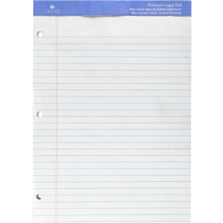 "Sparco Perforated Legal Pad,3HP,50 sheets,8 1/2""x11 3/4"", White"
