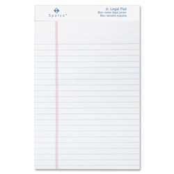 "Sparco White Micro Perforated Jr Legal Pad,50 Sheets,5""x8"",12/Pack"