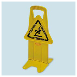 Rubbermaid Stable Safety Sign,Yellow