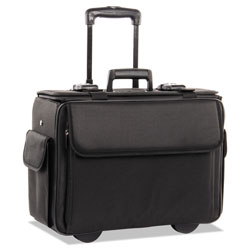 Stebco / Bond Street Ballistic Catalog/Computer Case on Wheels, 18w x 7-1/2d x 13h, Black