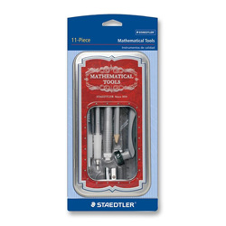 Staedtler Math Tools Set with Storage Tin, 11 Pieces