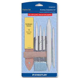 "Staedtler Chamoi Drawing Companion Set with Eraser and 3 Stamps, 3"" x 3"""