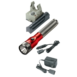 Streamlight Stinger LED Rechargeable Flashlight with AC/DC and PiggyBack - Red