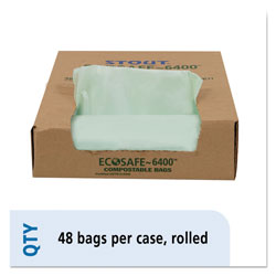 "Stout Green Green Trash Bags, 30 Gallon, 1 Mil, 30"" X 39"", Box of 48"