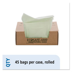 "Stout Green Green Trash Bags, 24"" X 30"", Case of 45"