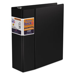 "Stride 80% Recycled Commercial D-Ring Binder, 4"" Capacity, Black"