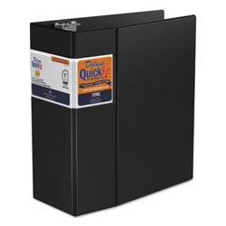 "Stride 80% Recycled Commercial D-Ring Binder, 5"" Capacity, Black"
