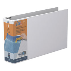 "Stride 80% Recycled Ledger D-Ring Binder, 3"" Capacity, White"
