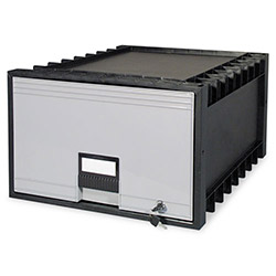 "Storex Archive Drawer for Legal Files Storage Box, 24"" Depth, Black/Gray"