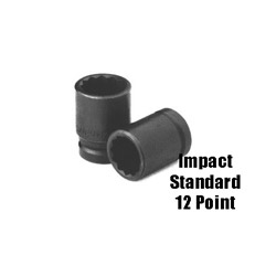 "Sunex 1/2"" Drive Standard 12 Point Impact Socket 12 mm"