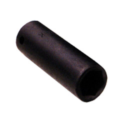 "Sunex 1/2"" Drive Deep 6 Point Impact Socket 17 mm."