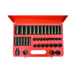 "Sunex 40 Piece 1/2"" Drive Deep Metric Impact Socket Set"