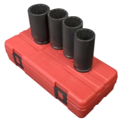 "Sunex 4 Piece 1/2"" Drive 12 Point Spindle Nut Socket Set"