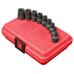 "Sunex 9 PIece 3/8"" Drive External Star Impact Socket Set"