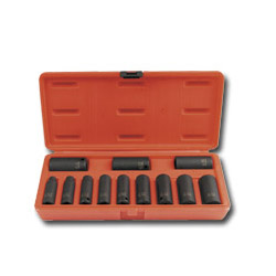 "Sunex 12 Piece 3/8"" Drive Deep SAE 12 Point Impact Socket Set"