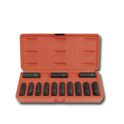 "Sunex 13 Piece 3/8"" Drive Deep Metric 12 Point Impact Socket Set"